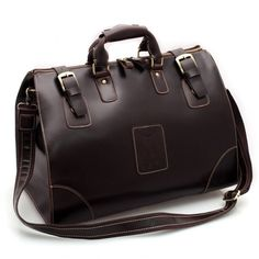 7435ce96075c Image of Vintage Handmade Large Genuine Leather Travel Bag / Luggage Bag/  Duffle Bag Leather
