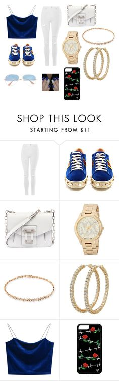 """""""Filming day with KnJ and Matt Espinosa"""" by tomboy45 on Polyvore featuring Topshop, Gucci, Proenza Schouler, Michael Kors, Suzanne Kalan, Roberto Coin and Ray-Ban"""