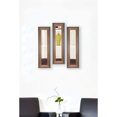 American Made Rayne Timber Estate Mirror Panel (Set of 4- 9.5 x 35.5), Brown Walnut