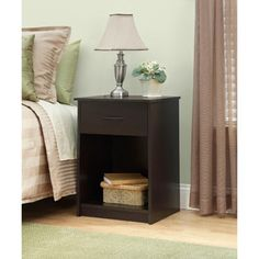 Gentil Curved Nightstand / End Table, Set Of 2 (Walmart) Again It Doesnu0027t Have To  Be This One But Two Black Wooden End Tables For The Living Room Instead U2026