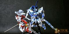 TR13  just added more photos of his Kamui Astray Blue Frame and Raizen Astray Red Frame!   I really like his style, his customized model kit...