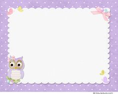 Adorable Owl Thank You Card - Flat or Folded Matching Back