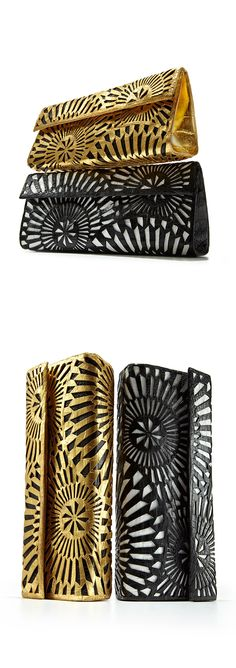 Dream in kaleidoscope color with clutches by Nancy Gonzalez.