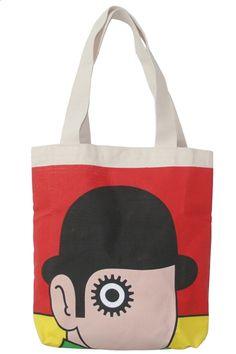9ddafb13877f You ve got to love the A Clockwork Orange tote bag!   Orange Tote