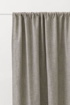 Linen Curtain Panels - Light beige - Home All Classic Curtains, Linen Bedroom, Bedroom Decor, Cotton Curtains, H & M Home, Draped Fabric, White Houses, Blackout Curtains, Curtain Panels