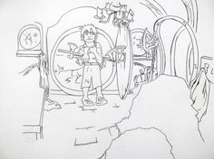 1000 Images About Hobbit Colouring Pages On Pinterest