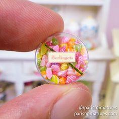 Box of French candy (Berlingots) #minifood #miniatures #miniaturefood…