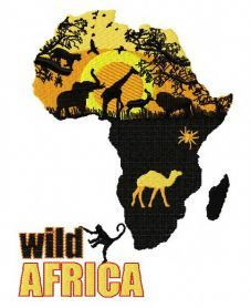 Wild Africa machine embroidery design. Machine embroidery design. www.embroideres.com