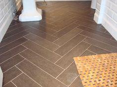 herringbone pattern w/ floor tiles