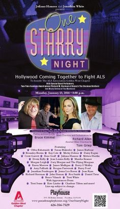 Hollywood is coming together to Fight ALS on Monday, Jan 13, 2014 at #PasadenaPlayhouse