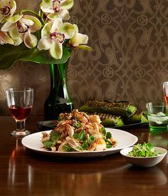 Australian Gourmet Traveller Thai recipe for chicken and prawn salad with caramelised coconut and lime by Martin Boetz from Longrain restaurant. Prawn Salad, Green Papaya Salad, Massaman Curry, Poached Chicken, Chef Recipes, Salad Recipes, Prawn Recipes, Recipes Dinner, Fish Curry