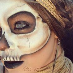 """43 Likes, 2 Comments - AllWaysMakeup (@allwaysmakeup_) on Instagram: """"Witch doctor  #witchdoctor #skull #witchcraft #voodoo #bones #halloween #makeup #makeupartist…"""""""