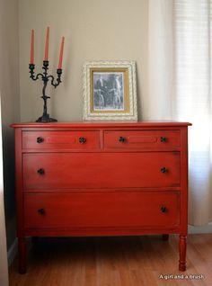Painted dresser #dresser
