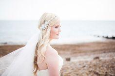 Wedding accessories. Wedding crown. Jeweled bridal hair piece. Veil. Image by Navyblur