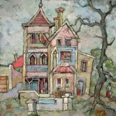 Spookhuis Milner Road, Rondebosch , Gregoire Boonzaaier South African Artists, Illustration Art, Illustrations, Artist At Work, Faeries, Love Art, Art Houses, Drawings, Abandoned