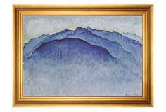 Hodler, Mountain Peak in the Morning