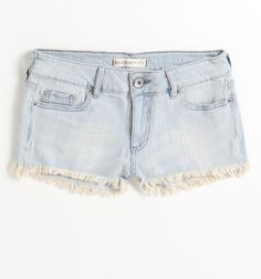 Bullhead Black Basic Fray Hem Faded Shorts:  Faded shorts are a must: they go with nearly everything!