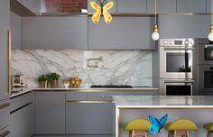 Modern Mutfak Tasarım Trendleri - İç Mimarlık İstanbul<br> Grey Kitchens, Luxury Kitchens, Kitchen Grey, Tuscan Kitchens, Small Kitchens, Kitchen Modern, Kitchen Colors, Luxury Kitchen Design, Interior Design Kitchen