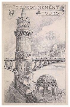 004-Coronamiento de torre-Esquisses Décoratives- 1905- Rene Binet - Cesar Ojeda