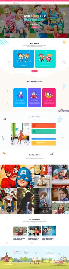 Kidzo is a creative best kids & children learning & activities WordPress Theme. This WordPress theme is targeted for kids, children – their education, schooling, and other activities. Kids Learning Apps, Learning Activities, Wordpress Theme Design, Web Design Services, Landing Page Design, Kids Education, Kids Playing, Preschool, Ux Wireframe