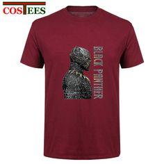 b1dc6a8ea Vintage Black Panther T Shirt men Civil War Super Hero Cool man Geek T shirt  100% cotton Casual Pop New Summer hip hop Tee Shirt-in T-Shirts from Men s  ...