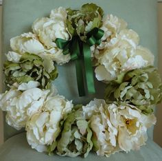 Flower Wreath Wedding Wreath Bridal Church Door by lovelygifts, $90.00