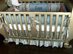 Custom Crib Bedding - in case we need to find it later