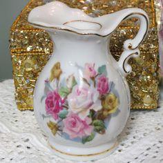 Vintage Porcelain Flower Pitcher Perfume Burner by LaNinkBoutique, $19.99