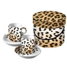 Designer Leopard Espresso Cup and Saucer set