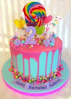 trolls drip cake