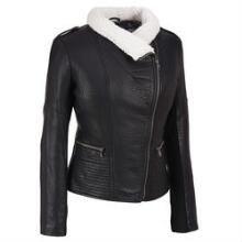 Jessica Simpson Textured Faux-Leather Jacket w/Faux-Shearling Collar #WLDreamFallWardrobe