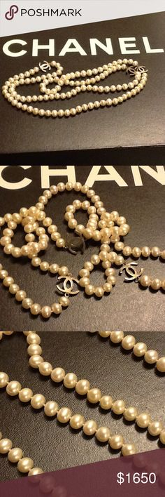 Chanel Chanel Necklace......so beautiful......this Chanel necklace has real pearls....signature CC only.....Purchased over 15 years ago when Chanel was Not so popular......look fly in that all black tee with those favorite jeans.... CHANEL Accessories
