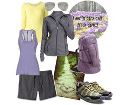 Hiking Outfit - Wear this Gray, Yellow & Purple on the trail and be the most fashionable hiker around! Best hiking shoes from KURU Footwear
