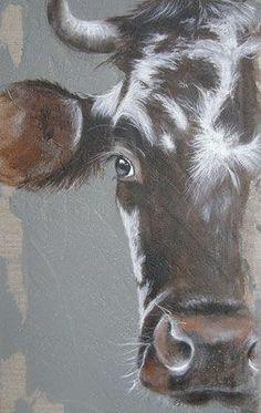 a half Norman! Cow Paintings On Canvas, Farm Paintings, Animal Paintings, Canvas Art, Bull Painting, Painting & Drawing, Cow Drawing, Cow Pictures, Farm Art