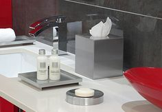 room360 Sumatra Stainless Steel:  t'coverm soap dish, tray