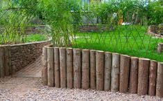"""log retaining wall"" design 