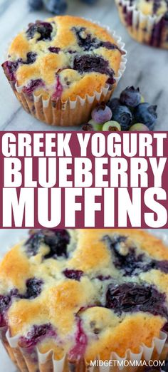 Breakfast Recipes These Greek Yogurt Blueberry Muffins are full of blueberries and perfect for when blueberries are in season. This healthy blueberry muffin recipe is one of our favorite muffin recipes. Healthy Breakfast Muffins, Healthy Muffin Recipes, Healthy Baking, Healthy Blueberry Desserts, Best Healthy Blueberry Muffin Recipe, Healthy Yogurt, Recipe For Healthy Muffins, Blue Berry Muffins Healthy, Blueberry Recipes With Almond Flour