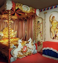 The famed Circus Bedroom at Ashcombe House.
