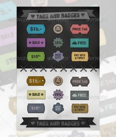 Tags and Badges, you can buy this PSD on GraphicRiver for just $4