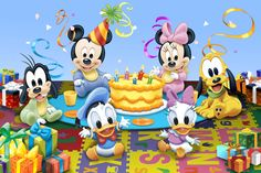 .: Disney Baby :. Festa Mickey Baby, Mickey Minnie Mouse, Disney Mickey, Disney Art, Disney Memes, Disney Cartoons, Duck Illustration, Illustrations, Donald And Daisy Duck
