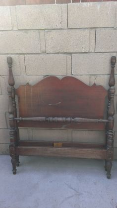 Hand made antique Mahogany Twin Bed   1944 by Youniqueattictreaure, $395.00