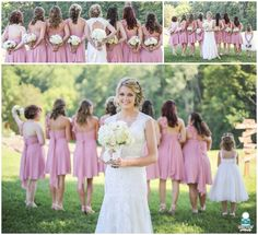 Bridesmaids and Bride at  Rustic Vintage Wedding in Knoxville Tennessee with Knoxville Wedding Photographer -- Star Noir Studio