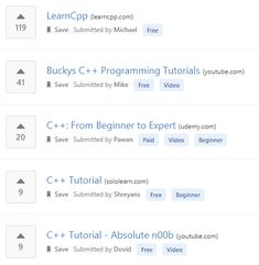 0b4fe0dd3 Learn C++ online from the best C++ tutorials   courses recommended by the  programming community.