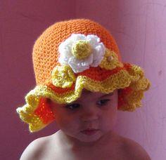 PDF Orange Scalloped Hat CROCHET PATTERN N0 077 All sizes Baby Toddler Child Adult. $3.99, via Etsy.