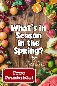 Spring Fruits and Vegetables in Season - My Fearless Kitchen Healthy Spring Recipes, Fruit Recipes, Easy Recipes, Easy Snacks, Quick Easy Meals, Frugal Meals, Fresh Fruits And Vegetables, Healthy Vegetables, Spring Fruits