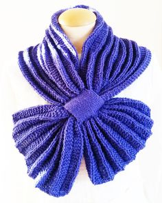 Giezen PDF Pattern Scarf Pleated Rib hand knit by Giezen on Etsy
