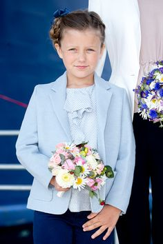 Princess Isabella of Denmark names a Ferry after herself at Saelvig Harbour during her first day of official engagements onThe Island Of Samso on June 6th, 2015 in Samso, Denmark