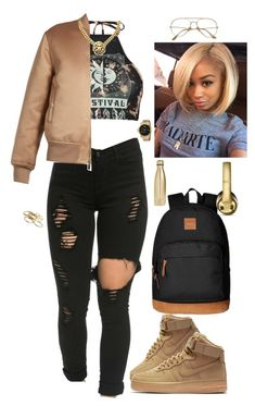 """Untitled #135"" by kenni35 ❤ liked on Polyvore featuring Boohoo, Givenchy, NIKE, HUF, Puma, S'well and Kendra Scott"