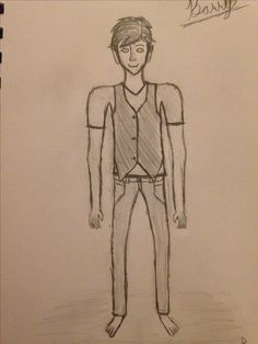 This is Barry, a character I created this past summer (2016). *He's a half-bat, half-human hybrid. He loves vests and collects and wears them because he thinks he looks classy and sharp. He wants to be an actor someday soon and is in theater IV at my school. *He's been living with me ever since he (literally) crashed into my life and I love him very much (in a friend way).   * Long story