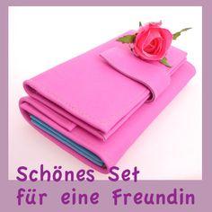 Handy Wallet und Kellnergeldbeutel in der tollen Farbe Pink und aus samtig weichem Leder